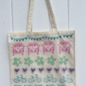 Block Printed Tote Bag