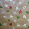 Hand Printed Christmas Wrapping Paper