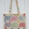 Hand Block Printed Elephant Tote Bag