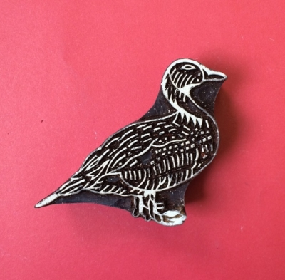 Indian wooden printing block- country living duck
