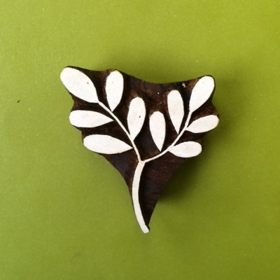 Wooden Printing Blocks- Double Leaf Stem