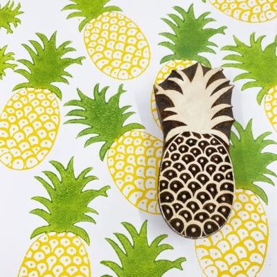 Indian Wooden Printing Block- Large Pineapple