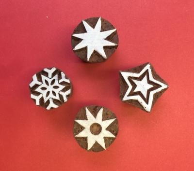 Set of Indian Christmas Blocks