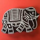 Large Indian Walking Elephant Printing Block