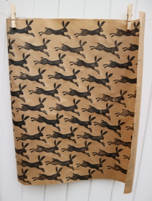 Leaping Hare Wrapping Paper