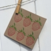 Strawberry Printed Card