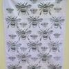 Large Bee Block Printed Tea Towel