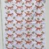 Block Printed Fox & Leaves Tea Towel