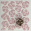 Indian Block Printed Fabric- Large Rose