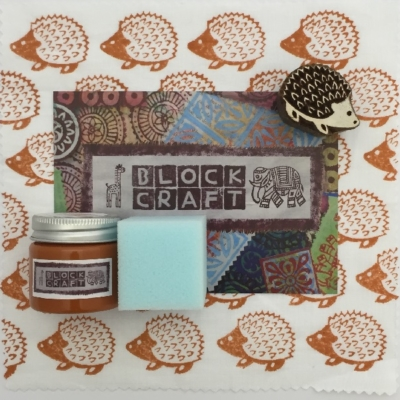 Indian Block Printing Kit- Small Hedgehog