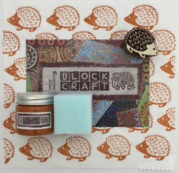 Indian Block Printing Kit- Small Hedgehog