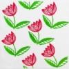 Indian Block Printed Fabric - Curved Tulip