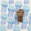 Indian Block Printed Fabric - Jellyfish