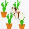 Indian Block Printed Fabric - Large Cactus Set