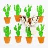 Indian Block Printed Fabric - Small Cactus Set