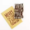 Hand Block Printed Christmas Cards
