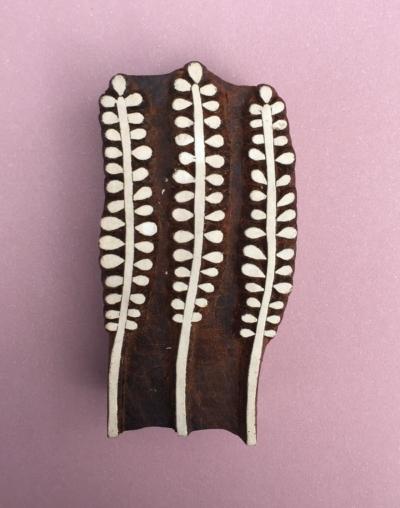 Indian Printing Blocks- 3 Solid Lavender Heads