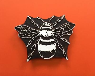 Indian Wooden Printing Blocks- Large Bee