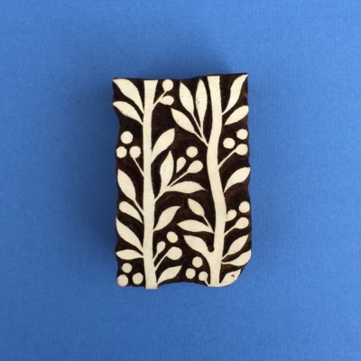Indian Wooden Printing Blocks- Leaf Vine Repeat