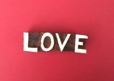 Indian Wooden Printing Blocks - Love