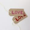 Love Block Printed Gift Tags