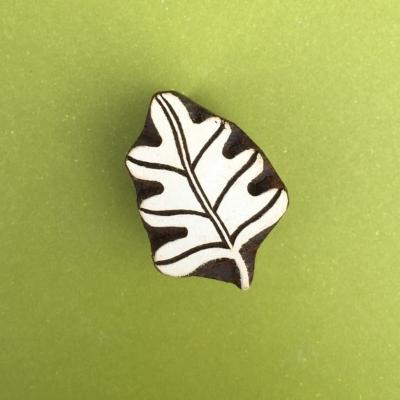 Indian Wooden Printing Blocks - Oak Leaf