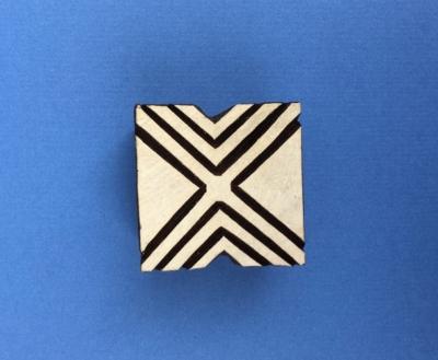 Indian Wooden Printing Blocks - Square Diamond Repeat Design