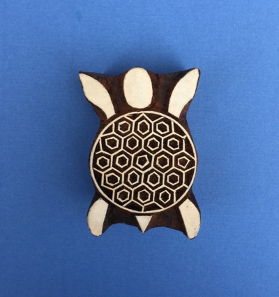 Indian Wooden Printing Blocks - Turtle