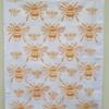Block Printed Bee Tea Towel