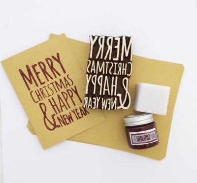 Block Printing Christmas Card Kit