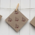 Wooden Block Printed Christmas Cards