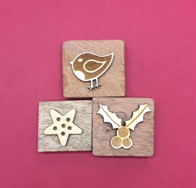 Wooden Printing Block Set