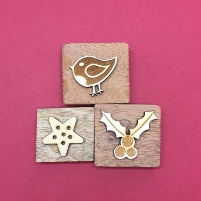 Wooden Printing Block Set