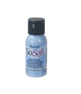 DecoArt SoSoft Fabric Paint- Baby Blue Deep