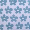 Block Printed Fabric- Indian Aqua