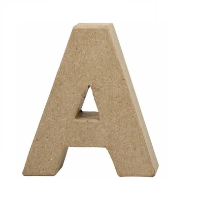Small Pulpboard Letter A