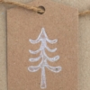 Block Printed Christmas Tag