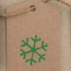 Block Printed Christmas Gift Tag