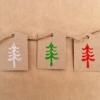 Block Printed Christmas Gift Tags