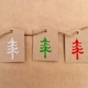 Block Printed Christmas Gift Tags