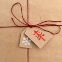 Block Printed Christmas Tags