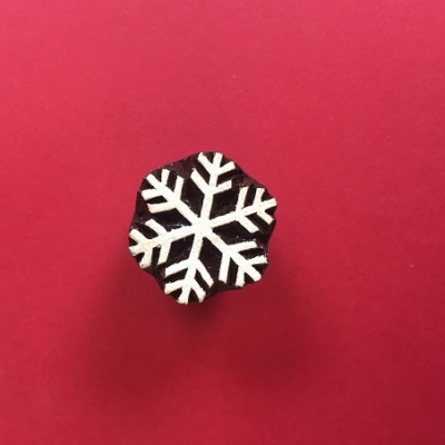 Indian Wooden Printing Block- Mini Detailed Snowflake
