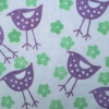 Large Standing Bird and Flower Fabric