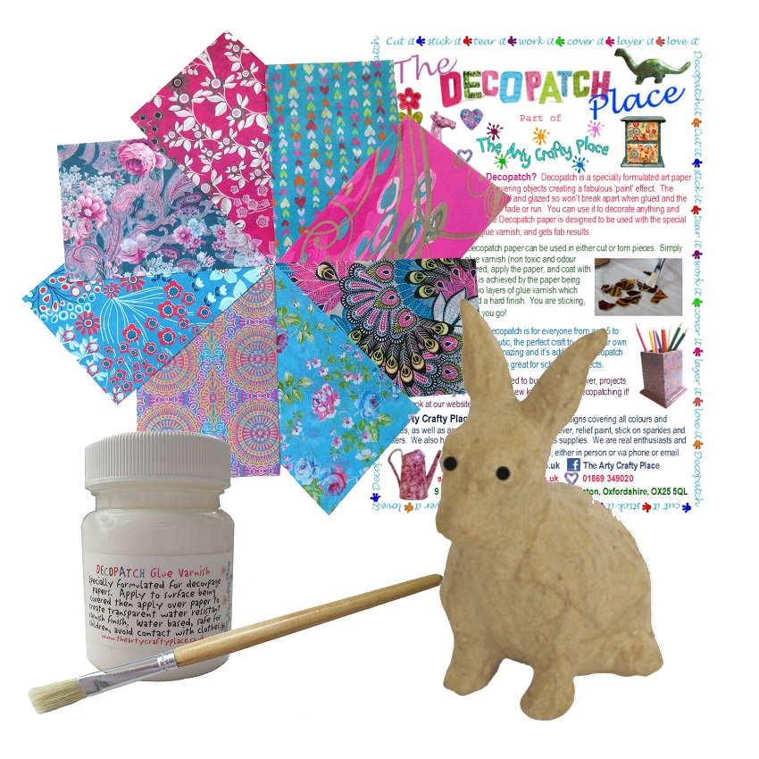 Extra Small Rabbit Decopatch Kit