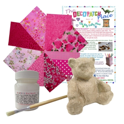 Extra Small Teddy Decopatch Kit