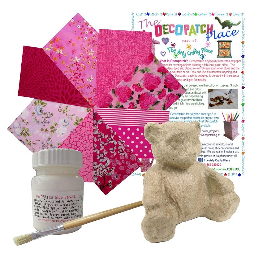 Extra Small Teddy Decopatch Kit
