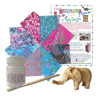Extra Small Elephant Decopatch Kit