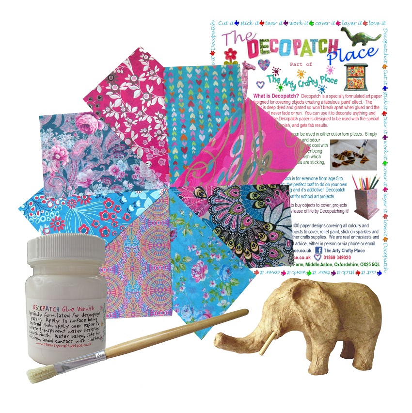 Extra Small Elephant Decopatch Kit