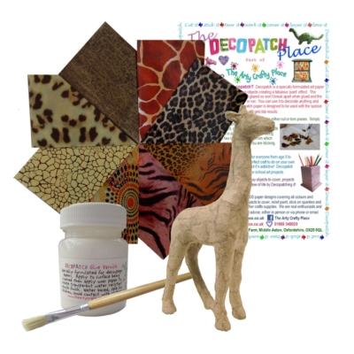 Extra Small Giraffe Decopatch Kit