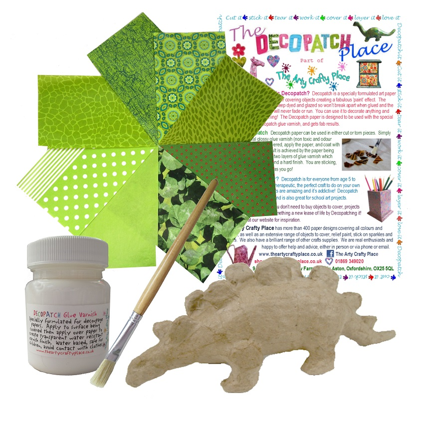 Extra Small Stegosaurus Decopatch Kit